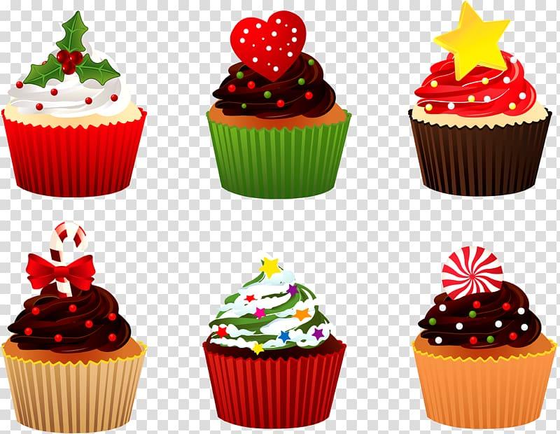 Christmas Cupcakes Christmas cake Candy cane Birthday cake, cupcake.