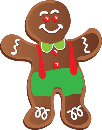 Christmas Cookie Border Clipart.