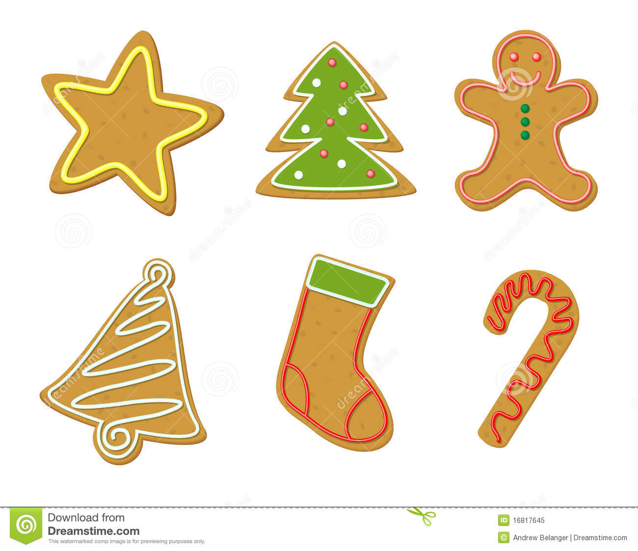 Free christmas cookies clipart.