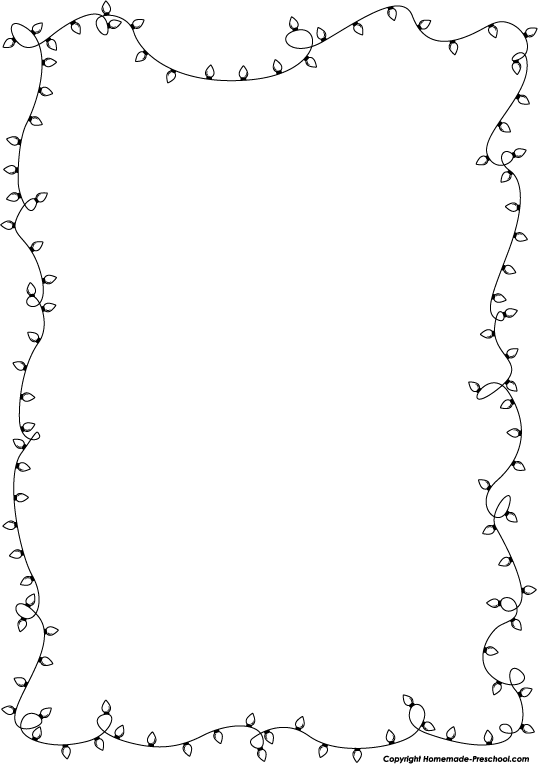 Christmas Clip Art Black And White Border.