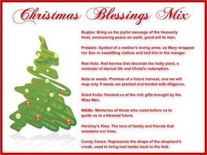 Christmas Blessing Clipart.