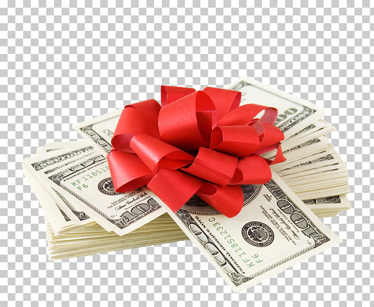 Gift Wrapping Money Foreign Exchange Market Christmas gift.