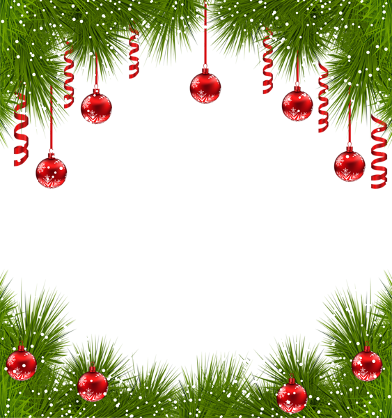 Clipart Transparent Background Christmas Border Design.