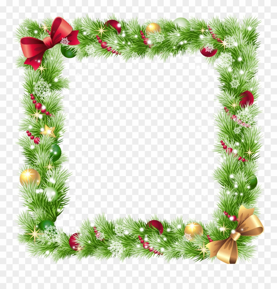 Christmas Border Transparent Background Clipart (#95857.