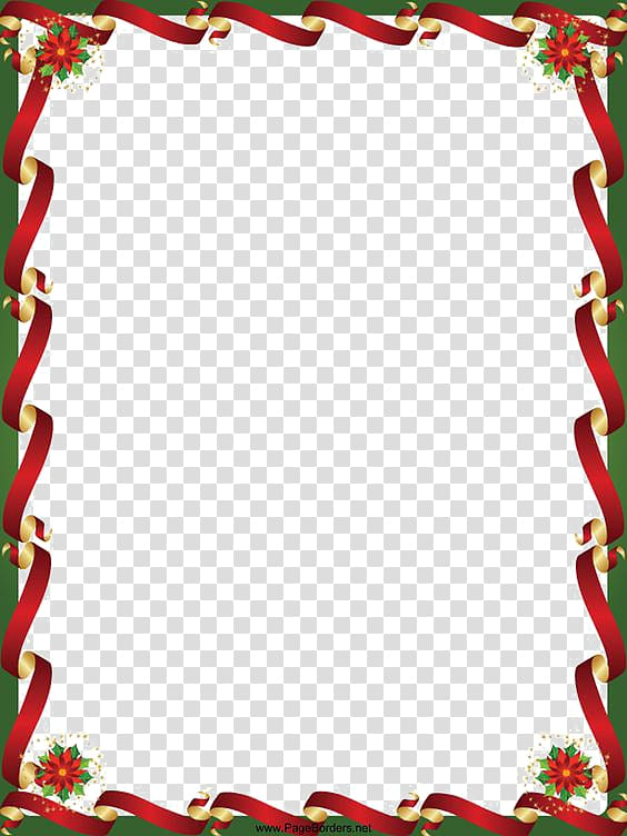 Christmas border transparent background PNG clipart.