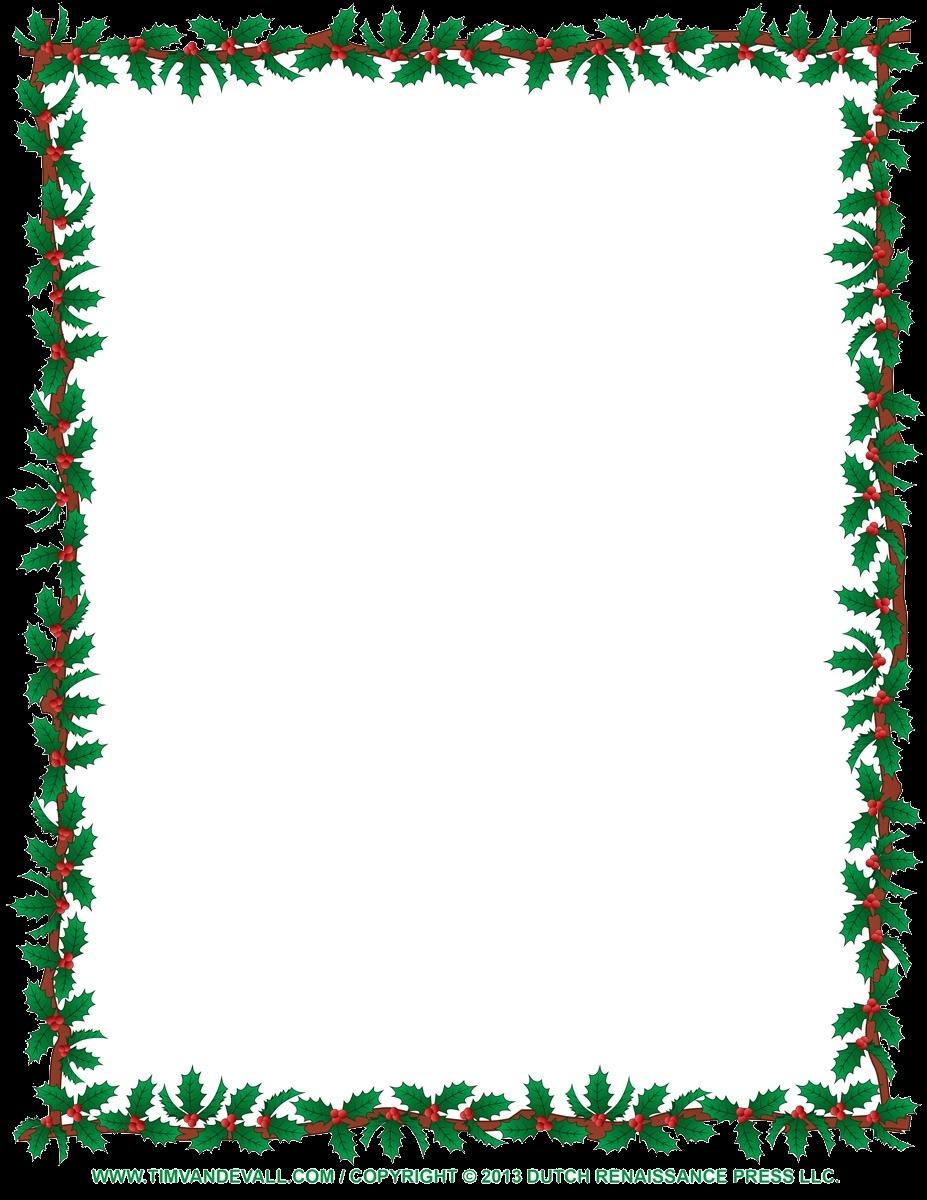 Christmas Border Clip Art Borders For Word Documents Clipart Panda.