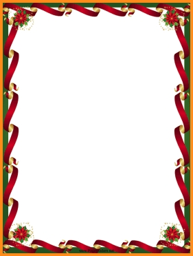 28+ Collection Of Free Christmas Border Clipart For Microsoft Word.