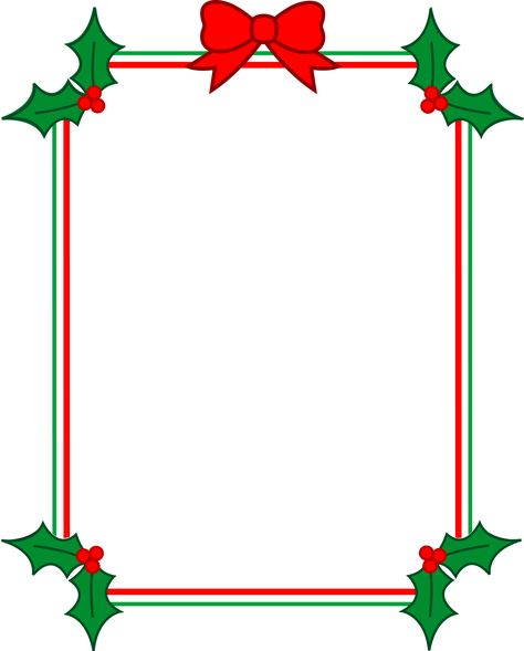 Christmas Clip Art Borders Free Download.