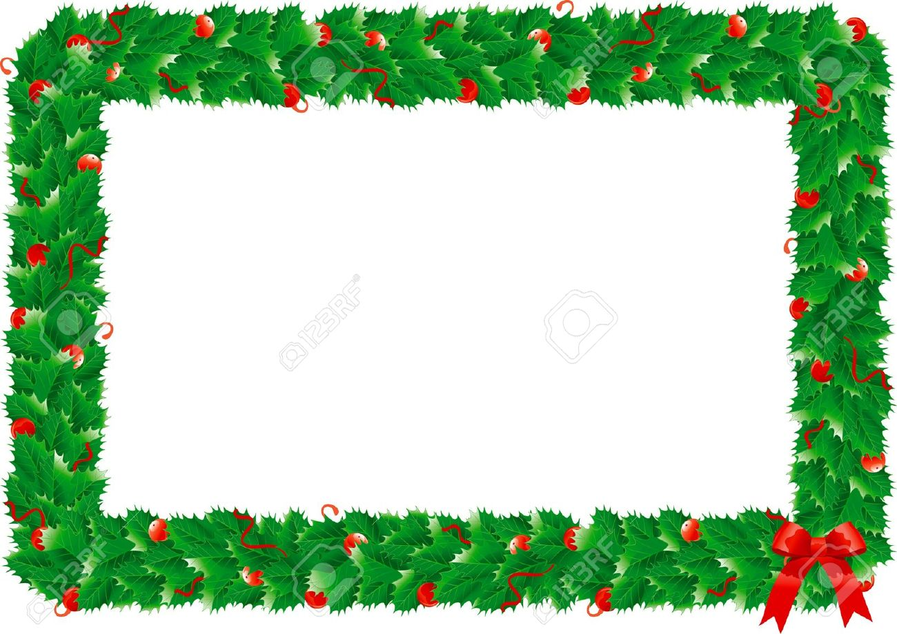 Small Christmas Holly Clip Art