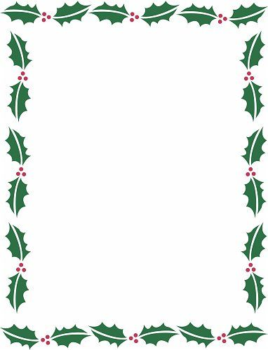Holiday Borders For Microsoft Word.