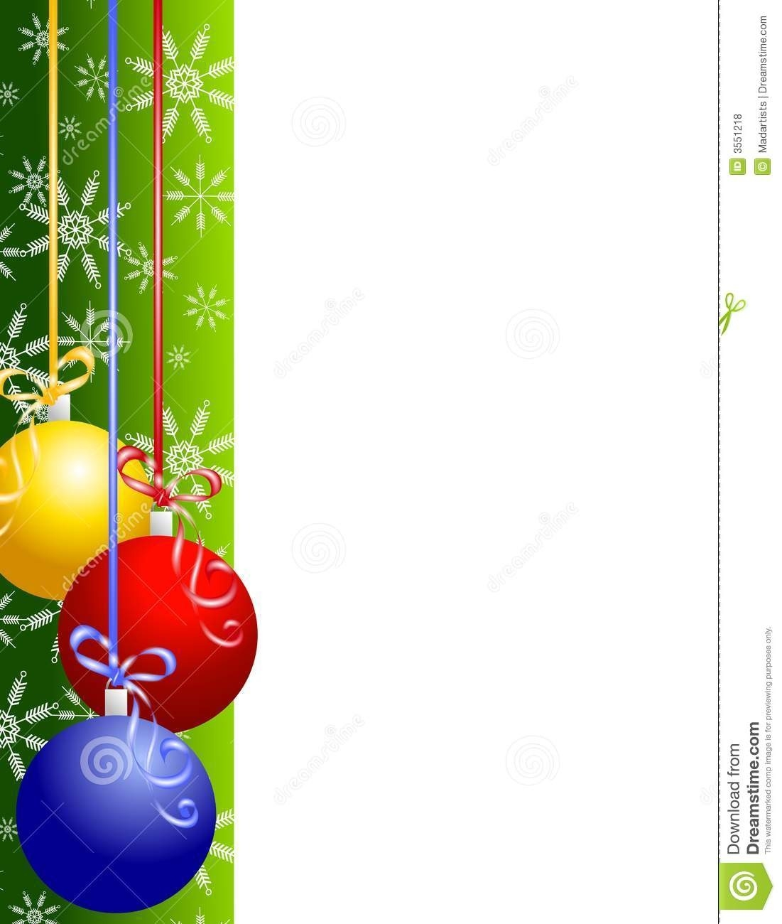 Christmas Border Decorations Clipart.