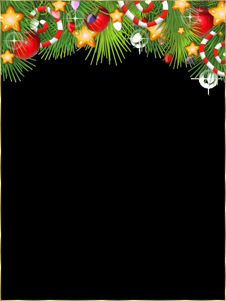 Cute Transparent Christmas Photo Frame.