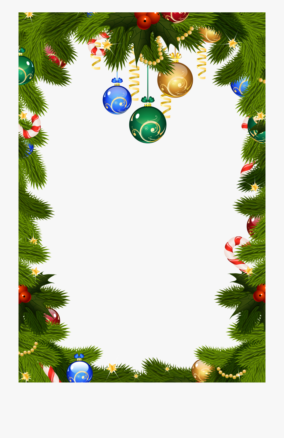 Free Holiday Clipart Borders.