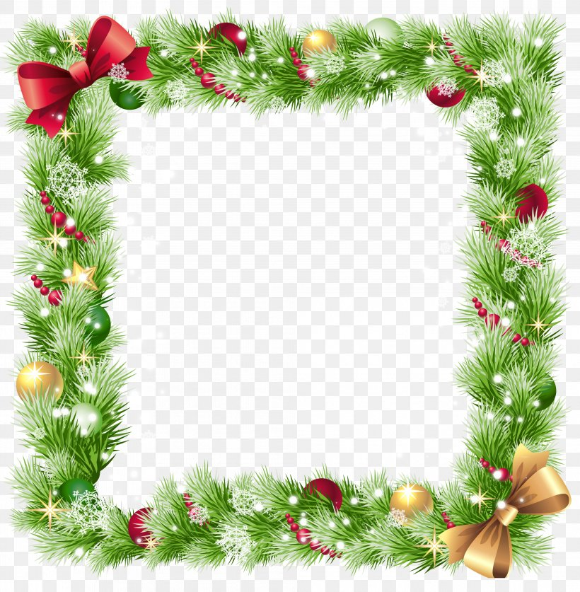 Borders And Frames Christmas Ornament Clip Art, PNG.