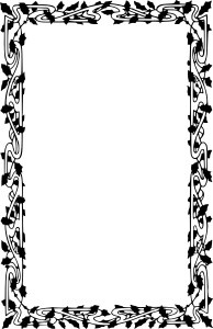Christmas Border Clipart Black And White.
