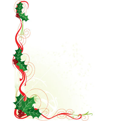 free christmas card borders clip art - Clipground