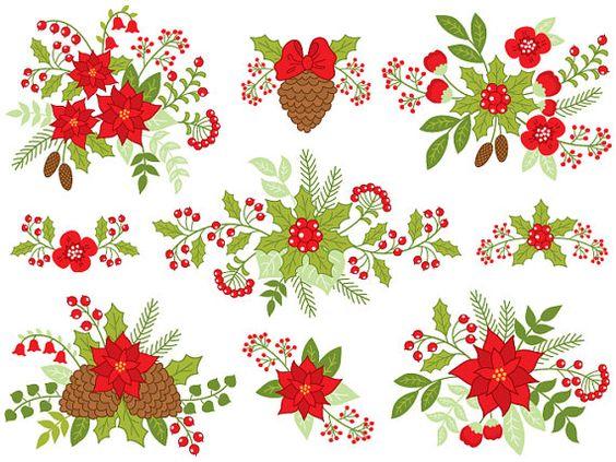 Christmas Bouquet Clipart.