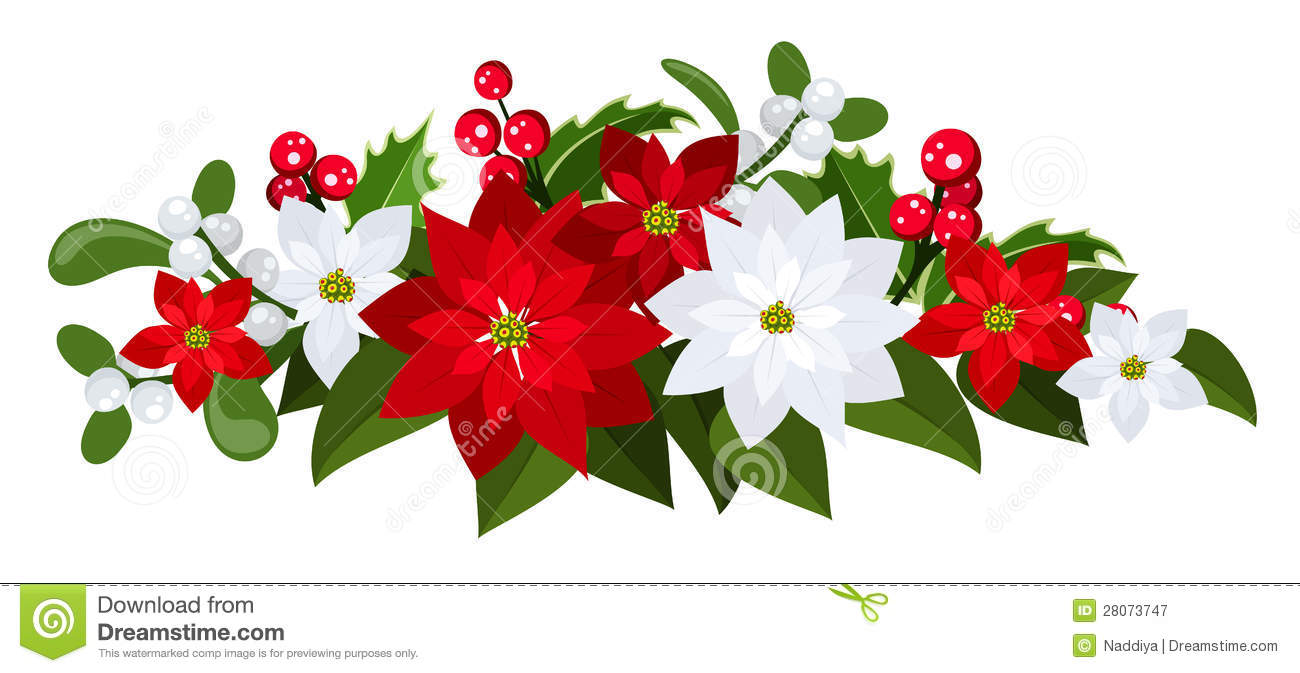 Christmas Bouquet. Vector Illustration. Royalty Free Stock.
