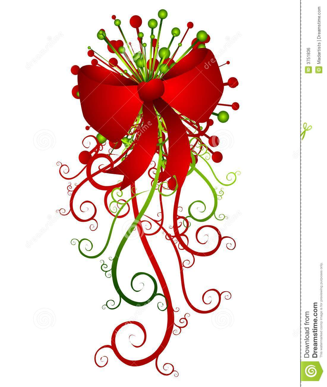 166 Christmas Bow free clipart.