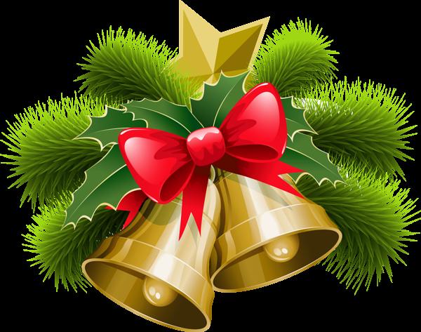Christmas Bells PNG Clip Art Image.