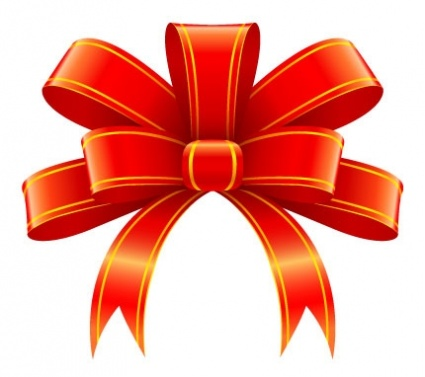 CHRISTMAS RED BOW, CLIP ART.
