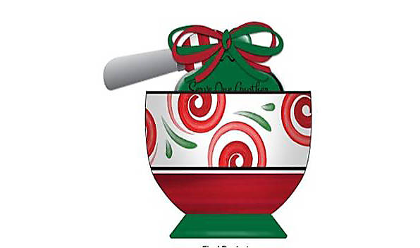 Christmas Bowl with Spreader.