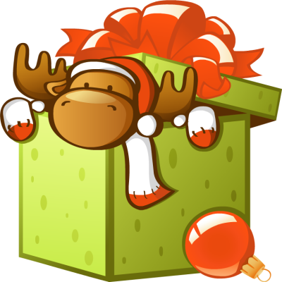 Christmas box clipart.