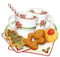 Christmas Breakfast Clipart.