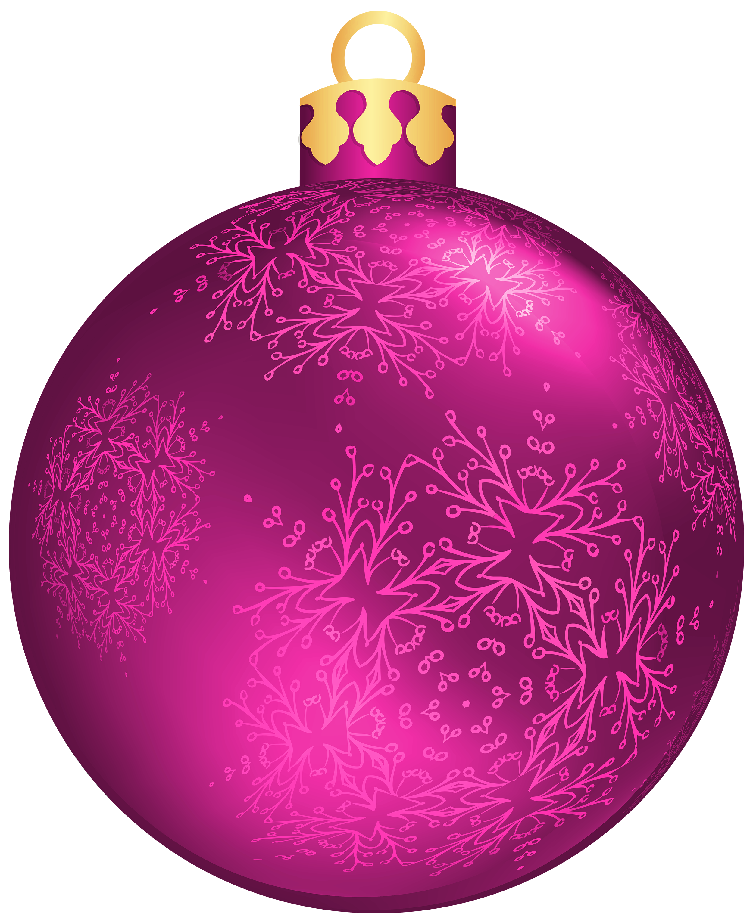 Pink Christmas Ball PNG Clipart.
