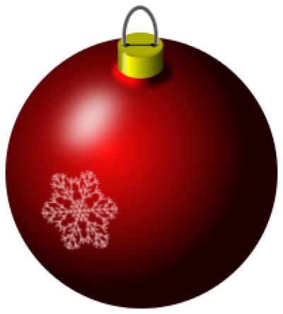 Holiday Christmas ornaments PNG.