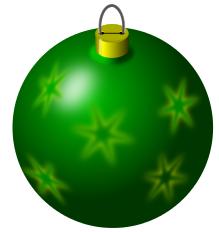 christmas bulb green snowflakes.