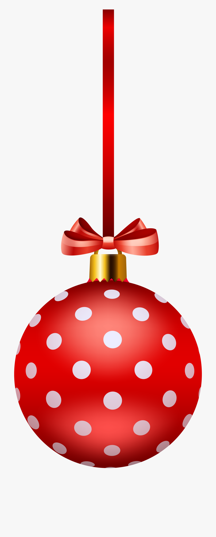 Christmas Ornaments Clipart Polka Dot.