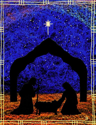 Christmas nativity bulletin: Heavenly Child.