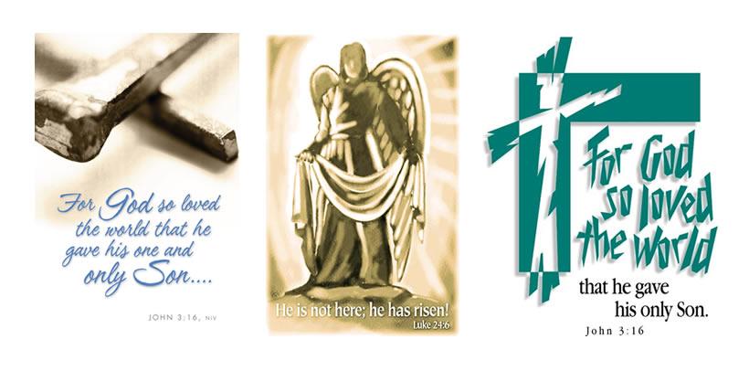 Easter clip art bulletin.