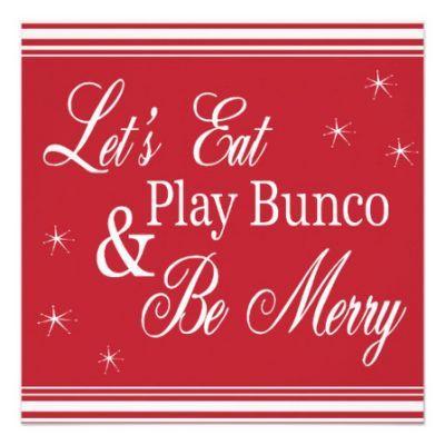 Christmas Bunco.