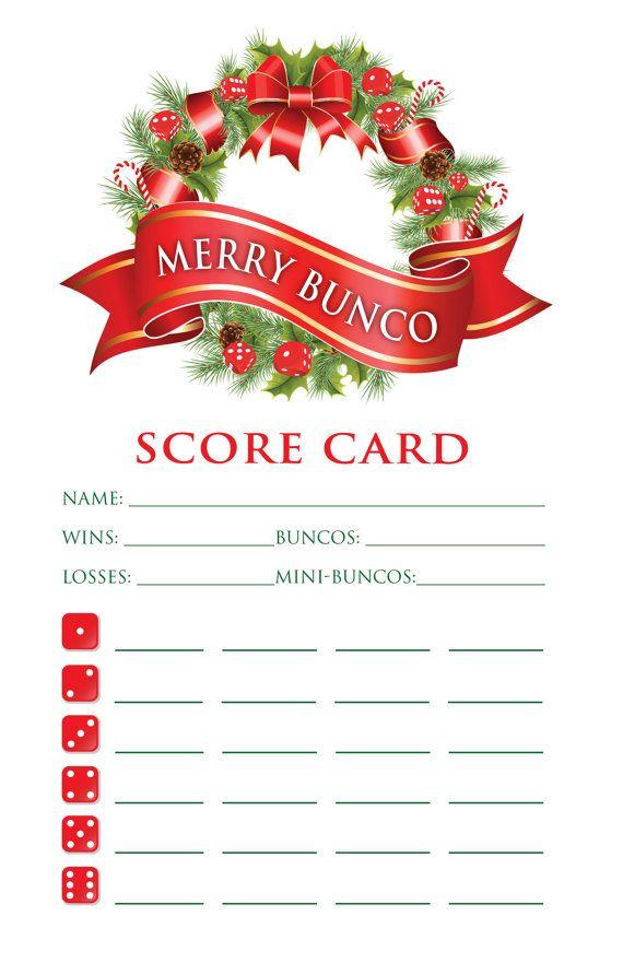 Free Printable Christmas Bunco Score Sheets MEMES, Door Decorating.