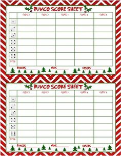 Christmas bunco clipart 1 » Clipart Portal.