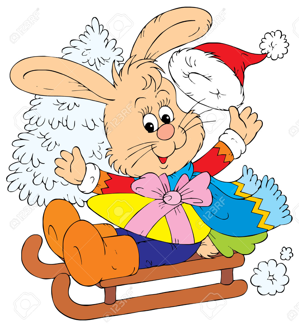 Christmas Bunny (vector) Royalty Free Cliparts, Vectors, And Stock.