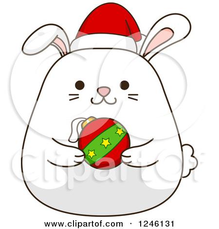 Christmas Bunny Clipart.
