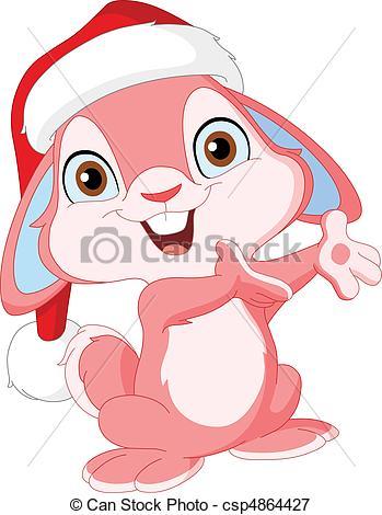 Christmas bunny Clipart Vector and Illustration. 683 Christmas.