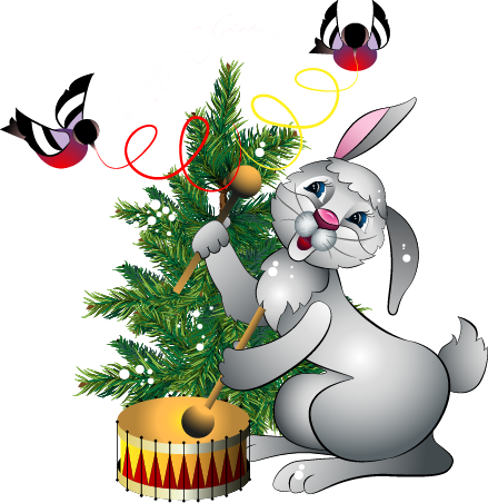 Showing post & media for Cartoon bunny clip art christmas.