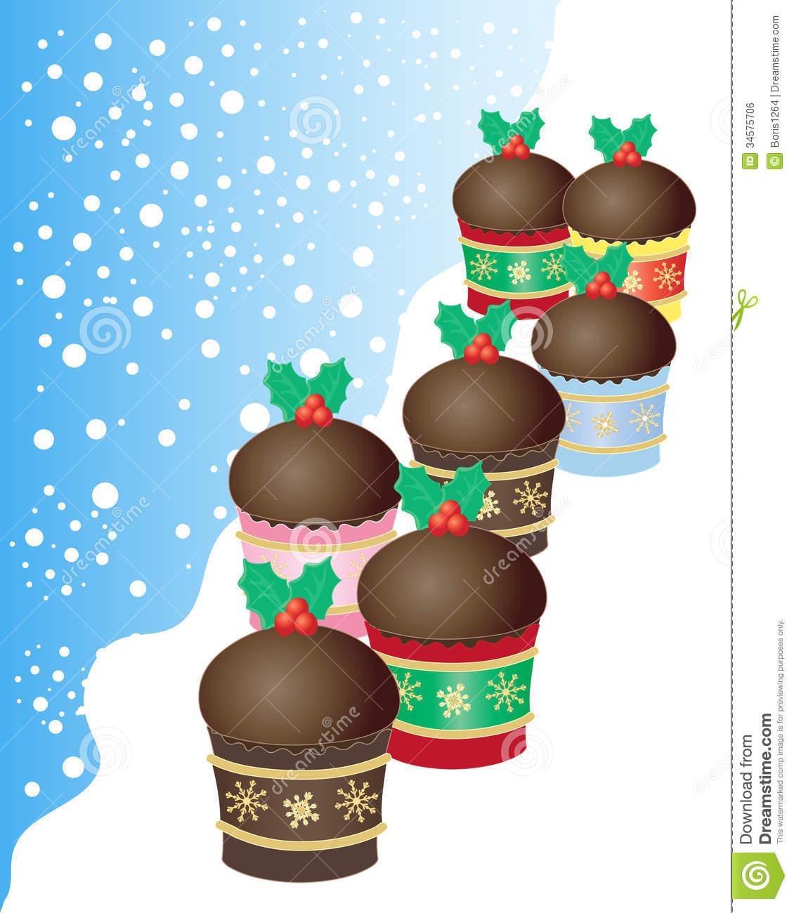 Christmas Buns Royalty Free Stock Image.
