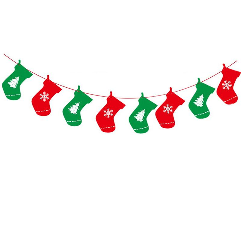 Christmas Stocking Bunting Clipart.