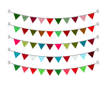 Christmas Bunting Clipart, Christmas Clipart, Holiday Bunting, Holiday  Clipart.