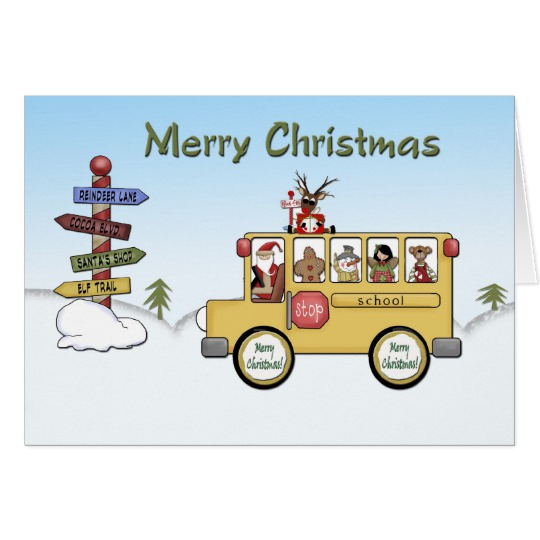 Christmas School Bus Clipart.