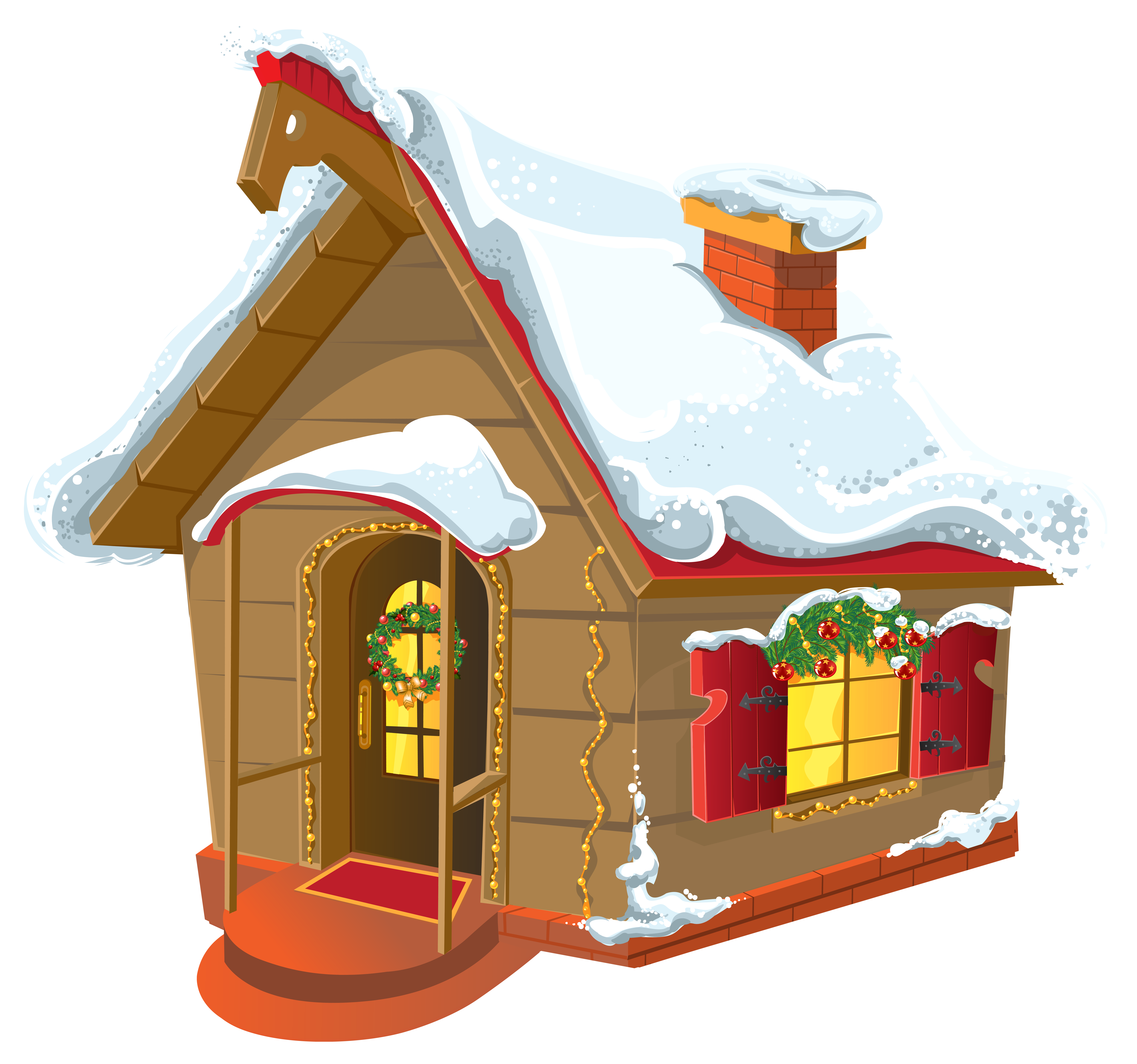 Christmas Cabin Clip Art Clipart Images #950038.