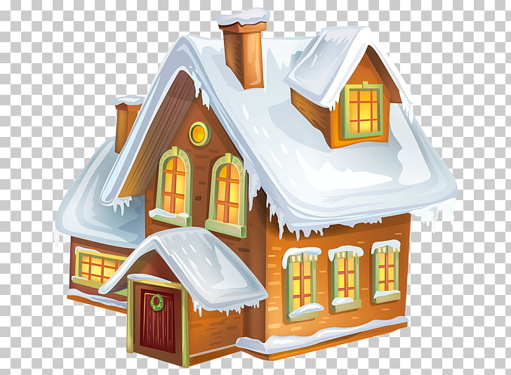 Gingerbread house Christmas , Winter House s PNG clipart.