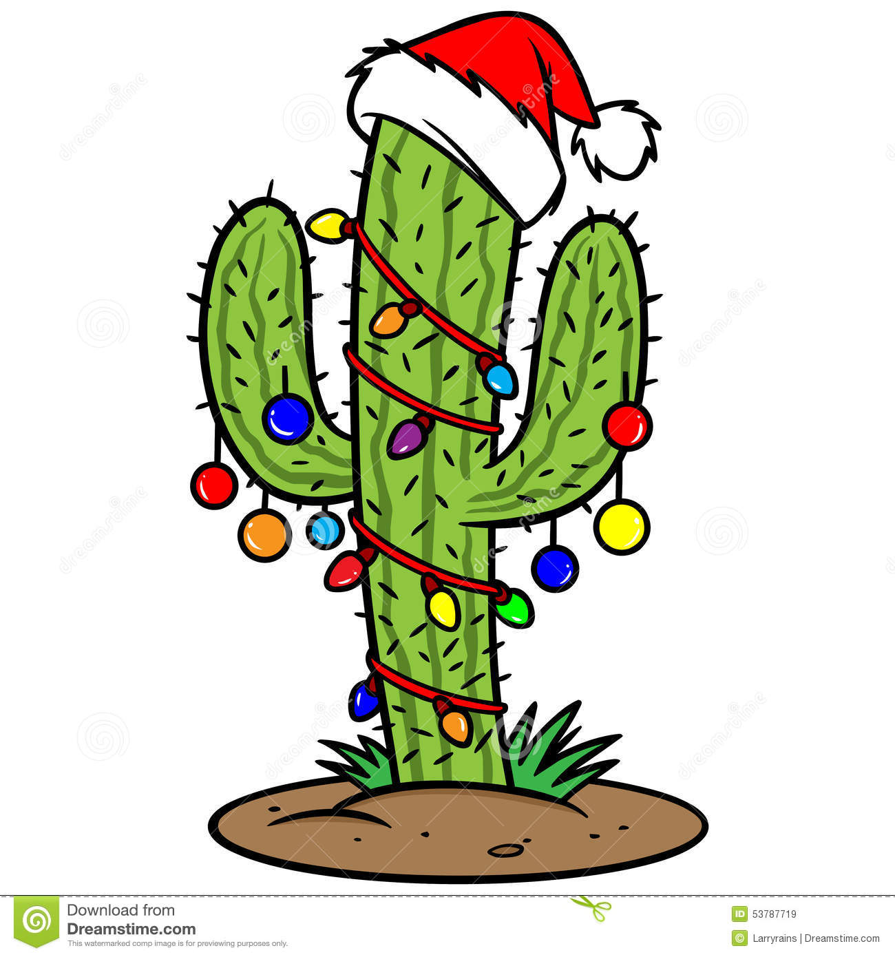 Christmas cactus clip art.