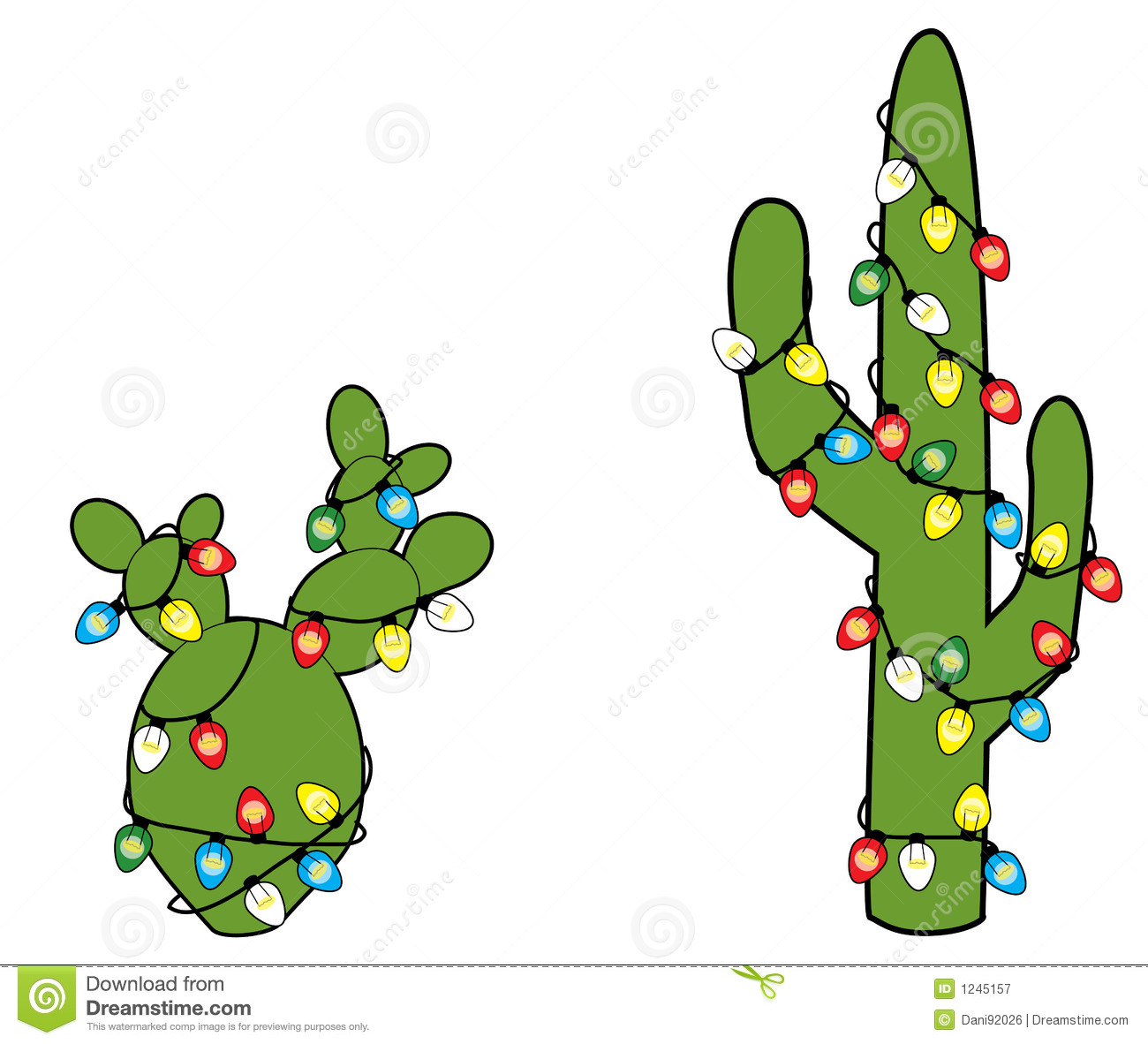 Christmas Cactus Clipart.