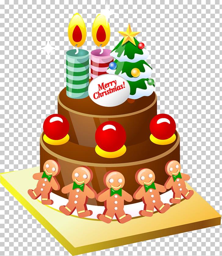 Christmas cake Birthday cake Cupcake , cartoon cake PNG.